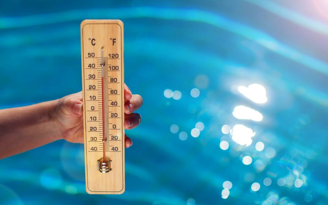 Variations de la température de l'eau de la piscine