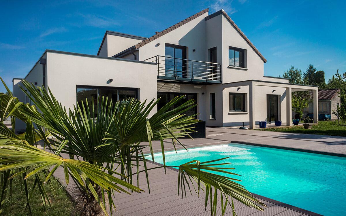 Belle maison avec sa jolie terrasse