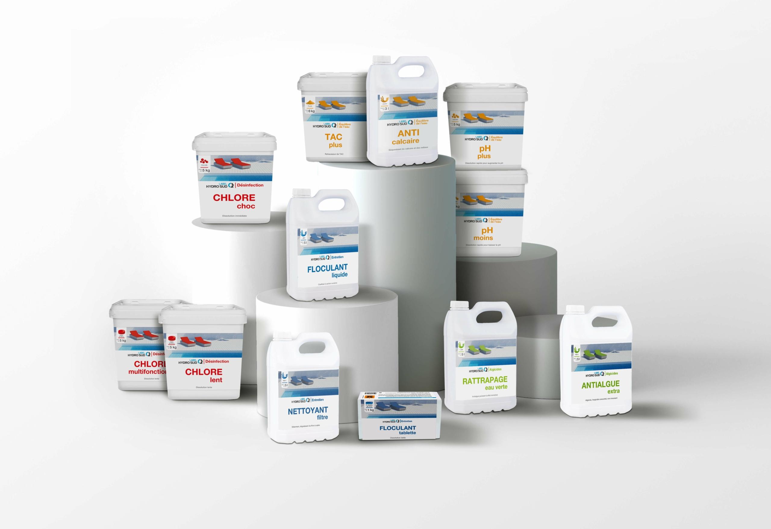 produits traitement de l'eau mdd piscines hydrosud