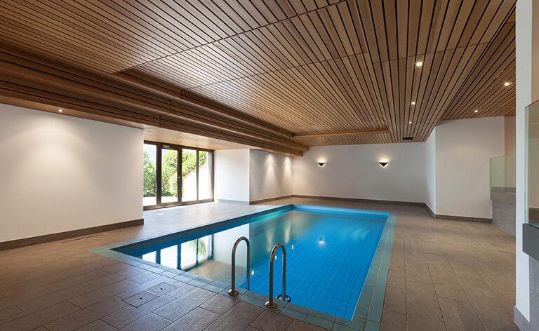 piscine intérieur en déshumidification