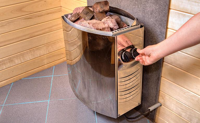 Poele à bois pour sauna